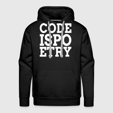 Code is Poetry - Men's Premium Hoodie