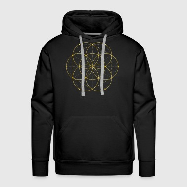 Golden Egg Of Life Sacred Geometry - Men's Premium Hoodie