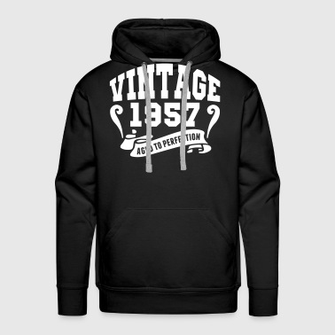 Vintage 1957 Aged To Perfection - Men's Premium Hoodie