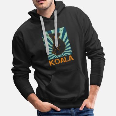 Fluffy Koala Bear Zoo Fur Stick - Men's Premium Hoodie