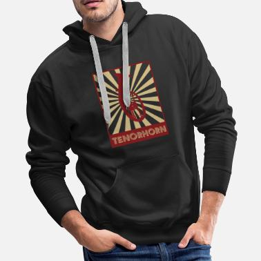 Brass French Horn - Men's Premium Hoodie