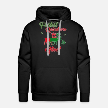 Candy-cane Gift Christmas Holiday Santa Reindeer Design Shirt - Men's Premium Hoodie