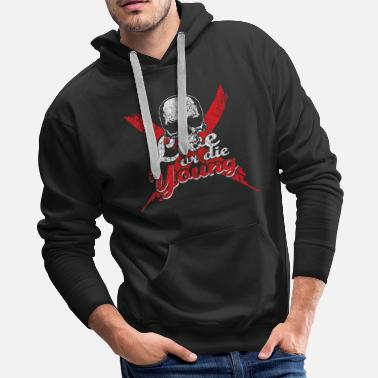 Rebellious Saying Skull Gift - Men's Premium Hoodie