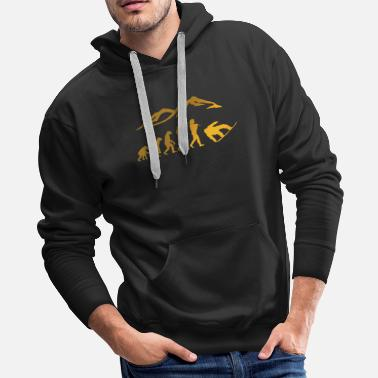 Boarders Snowboarding evolution snow boarder cool - Men's Premium Hoodie