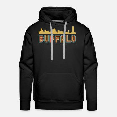 Buffalo Vintage Style Buffalo New York Skyline - Men's Premium Hoodie