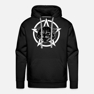 Metal Music Metal music cat - Men's Premium Hoodie