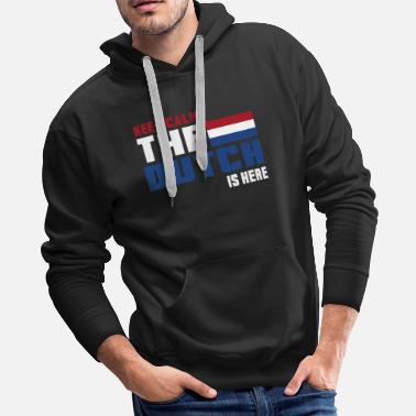 Rotterdam Keep Calm Netherlands / Gift National Colours - Men's Premium Hoodie