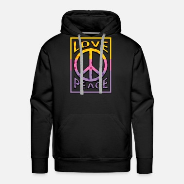 Gypsy Hippie Peace Harmony Message Cool Gift - Men's Premium Hoodie