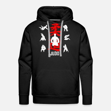 Judo Judo martial arts character Japan defense fighter - Men's Premium Hoodie