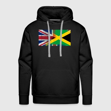 British Jamaican Half Jamaica Half UK Flag - Men's Premium Hoodie