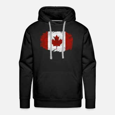 Leaf Maple Leaf- Canadian Flag - Men's Premium Hoodie