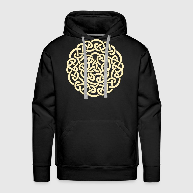 Complex celtic design circle - Men's Premium Hoodie