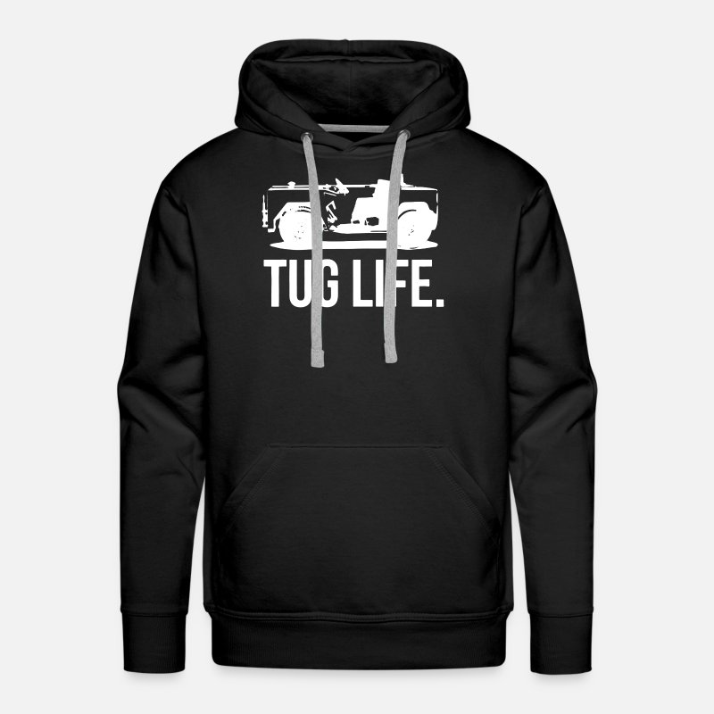 Tug Hoodies & Sweatshirts - Tug Life Shirt - Men's Premium Hoodie black