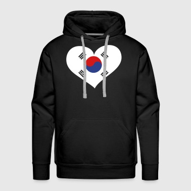 South Korea Heart; Love South Korea - Men's Premium Hoodie