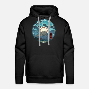 Japan Mt. Fuji Moon - Men's Premium Hoodie