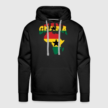 Ghana Flag Africa Map - Men's Premium Hoodie