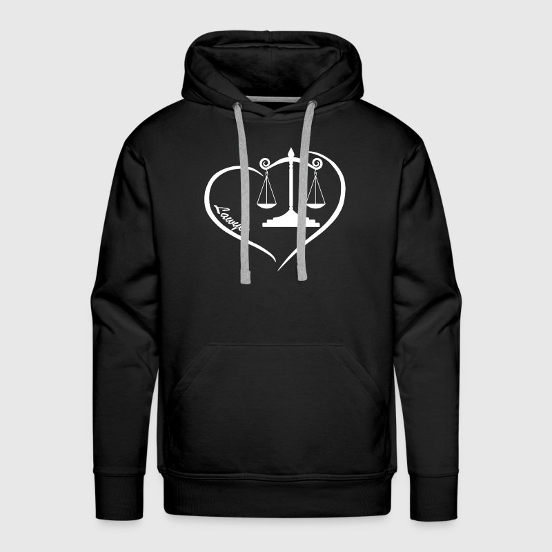 Lawyer Heart Shirt - Men's Premium Hoodie