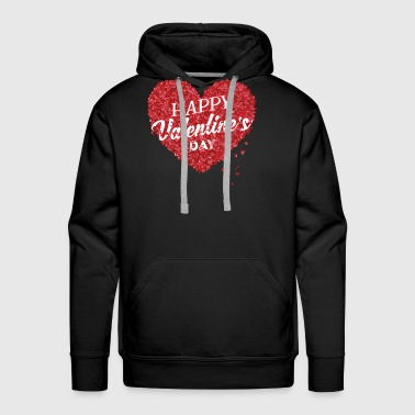 happy valentine's day, valentine - Men's Premium Hoodie