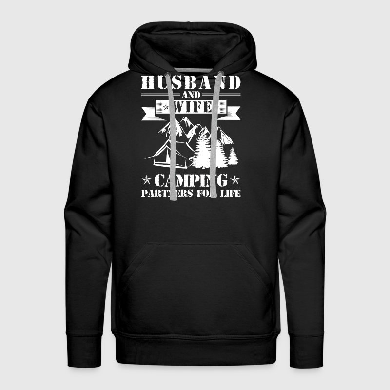 Husband And Wife Camping Partners - Men's Premium Hoodie