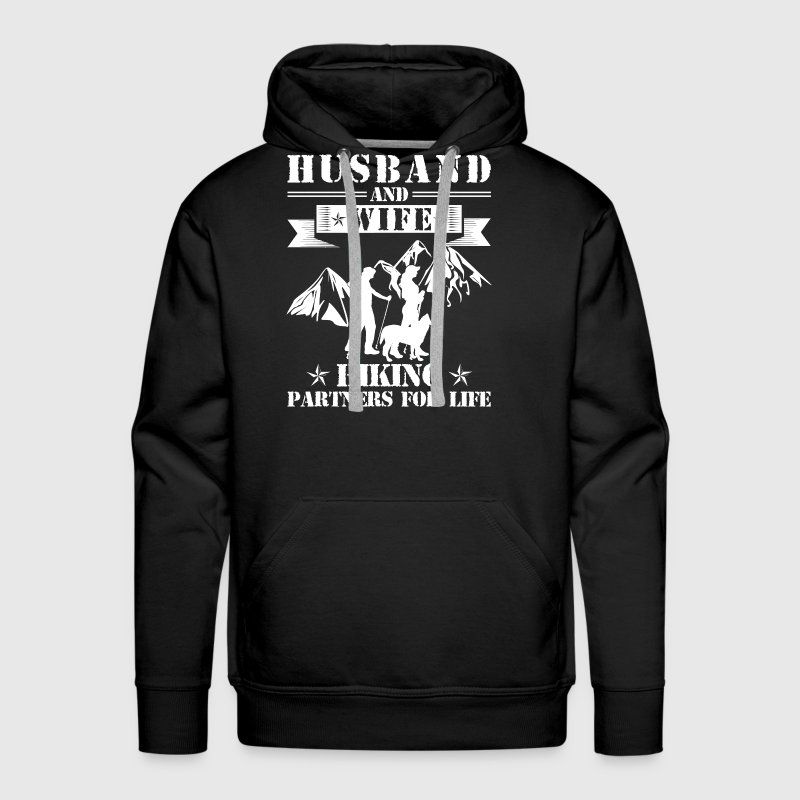 Husband And Wife Hiking Partners - Men's Premium Hoodie