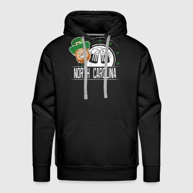 St Paddy Shirt North Carolina St Patricks Day Outfit Girls - Men's Premium Hoodie