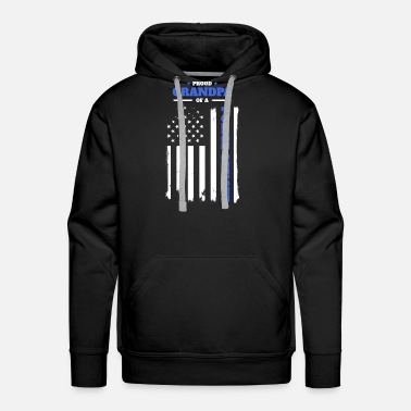 Proud Grandpa Proud Grandpa of a Police Officer - Men's Premium Hoodie
