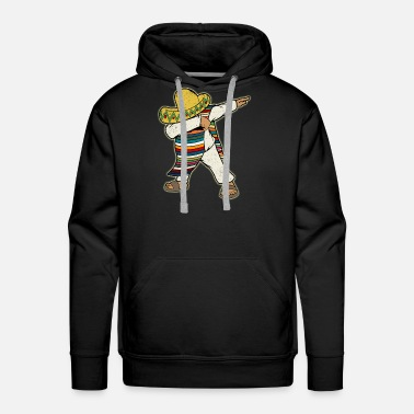 Just Mexican Poncho Dabbing - Men's Premium Hoodie