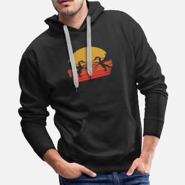 Dragon Head RPG DRAGON DICE sunset Sunrise - Men's Premium Hoodie