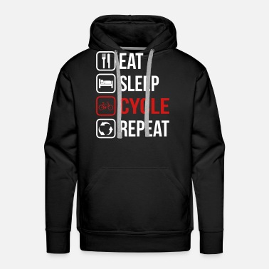 Job Eat Sleep Cycle Repeat - Men's Premium Hoodie