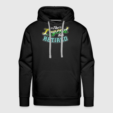 The Legend Has Retired - Men's Premium Hoodie