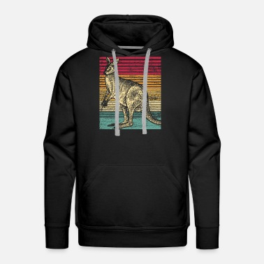 Marsupial Kangaroo Animal Australia Backpacker Marsupial Sun - Men's Premium Hoodie