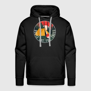 Roots Camping travel freedom nature silence camp - Men's Premium Hoodie