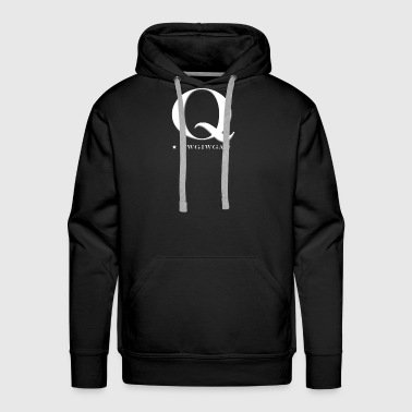 QAnon WWG1WGA Q Anon Great Awakening MAGA USA Text - Men's Premium Hoodie