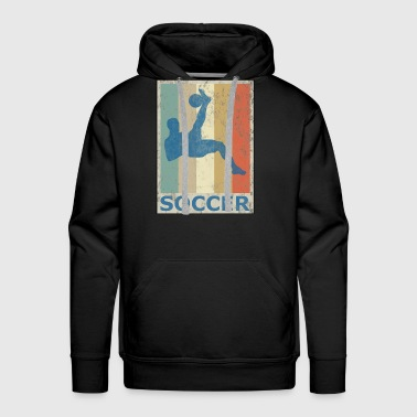 Retro Vintage Style Soccer Player Sports Game - Men's Premium Hoodie
