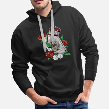 Ace Ace of Spades Texas Holdem Poker Playing Card tee - Men's Premium Hoodie