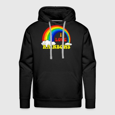 I Love Rainbows Statement gift kids christmas - Men's Premium Hoodie