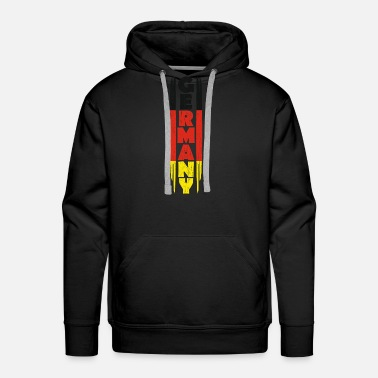 Black Red Gold Germany gift red gold black - Men's Premium Hoodie