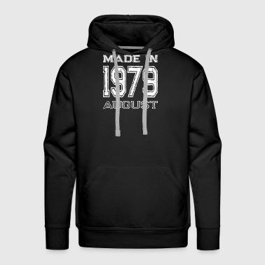 40th-birthday Birthday Celebration Made In August 1979 Birth Year - Men's Premium Hoodie