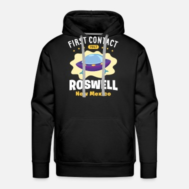 Mexico First Contact Roswell New Mexico - Men's Premium Hoodie