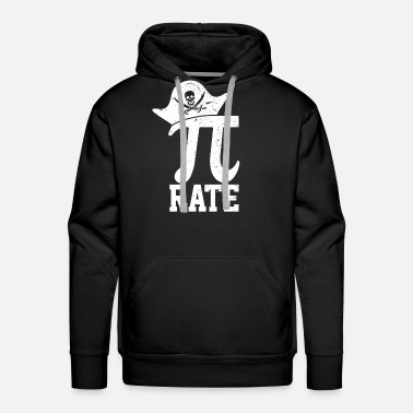Pi Day Pi Rate - Funny Pirate Pi Day Math Nerd Gift - Men's Premium Hoodie