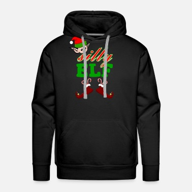 Dwarf Silly Elf Christmas Gift - Men's Premium Hoodie