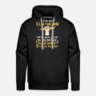 Plug I'm An Electrician Gifts, Shirts & Apparel - Men's Premium Hoodie