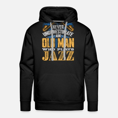 Piano Old man Jazz - Men's Premium Hoodie