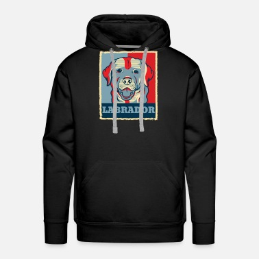 Obama Labrador Retriever Dog Retro Vintage Gift Present - Men's Premium Hoodie