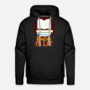 No Idea Reading books LIT nerd - Men's Premium Hoodie