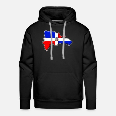 Dominican Republic Dominican Republic Flag Map - Men's Premium Hoodie