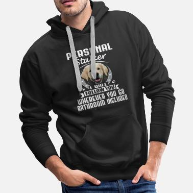 Bathroom Golden Retriever - Funny Dog - Stalker - Men's Premium Hoodie