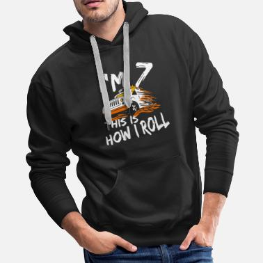 Jeep 4x4 Monster Truck I'm 7 this is how I roll - Men's Premium Hoodie