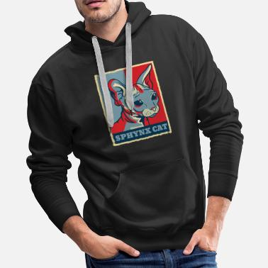 Sphinx Sphynx Cat Sphinx Cat Retro Vintage Gift Present - Men's Premium Hoodie