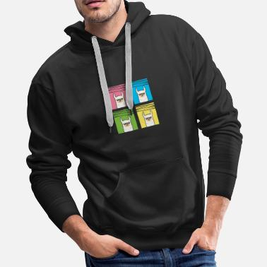 Camel Awesome Pop Art Llama with Sunglasses/ Wild Animal - Men's Premium Hoodie